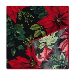 Crimson Placemat by Rose Tree 'Mistletoe and Holly' Napkins (Set of 6)