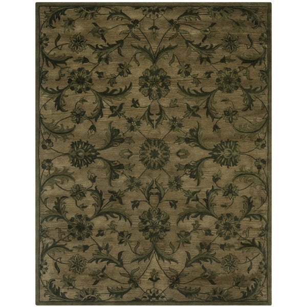Safavieh Handmade Antiquities Olive Green Wool Rug