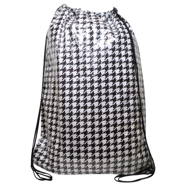 Tango 'Black/ White Houndstooth' Laundry Duffel Bag