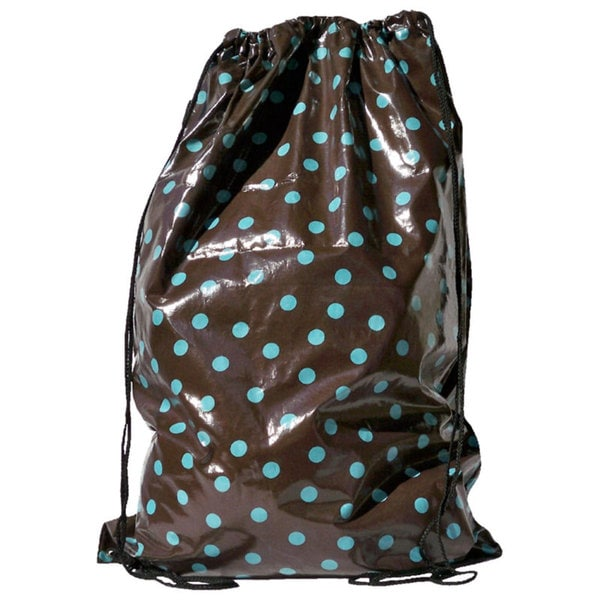 Tango 'Brown/ Turquoise Polka Dot' Laundry Duffel Bag