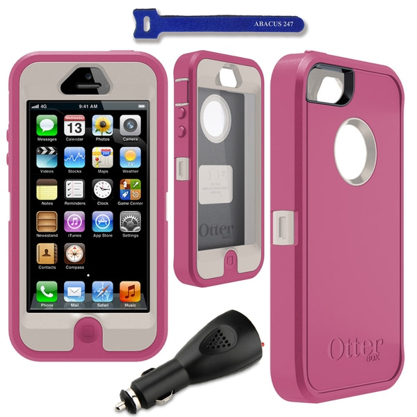 OtterBox Defender Apple iPhone 5 Case / 2000 mAh Car Charger