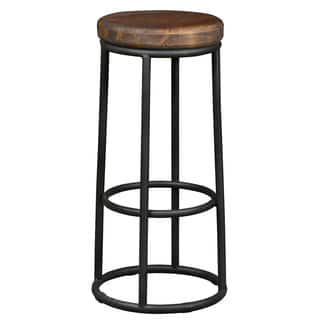 Willow Reclaimed Wood and Iron 30-inch Backless Barstool by Kosas Home https://ak1.ostkcdn.com/images/products/7505113/P14946480.jpg?impolicy=medium