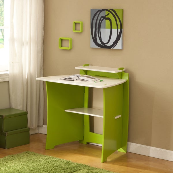 Legare 34-Inch Green and White Kids' Desk