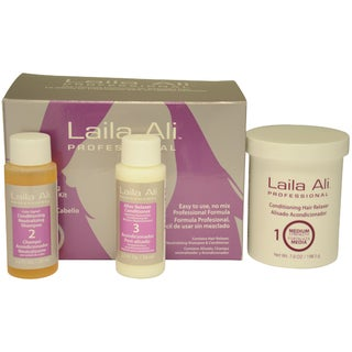 Medium Strength Conditioning Hair Relaxer Kit by Laila Ali for Unisex - 4 Pc Set