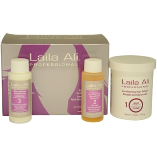 Mild Strength Conditioning Hair Relaxer Kit by Laila Ali for Unisex - 4 Pc Set