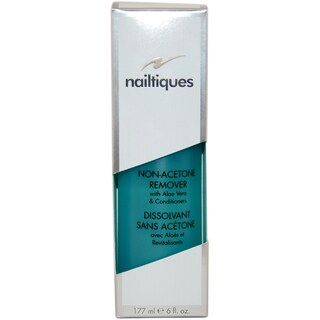 Nailtiques Non-Acetone Remover with Aloe Vera & Conditioners by Nailtiques for Women - 6 oz Manicure