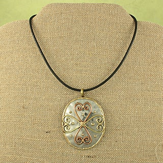 Handmade Copper and Brass Cross Necklace (India)