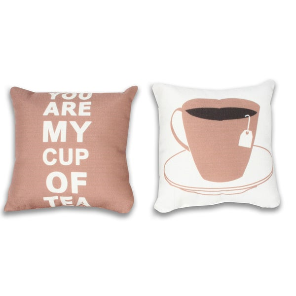 Thro 'You Are My Cup of Tea' Pillow (Set of 2)