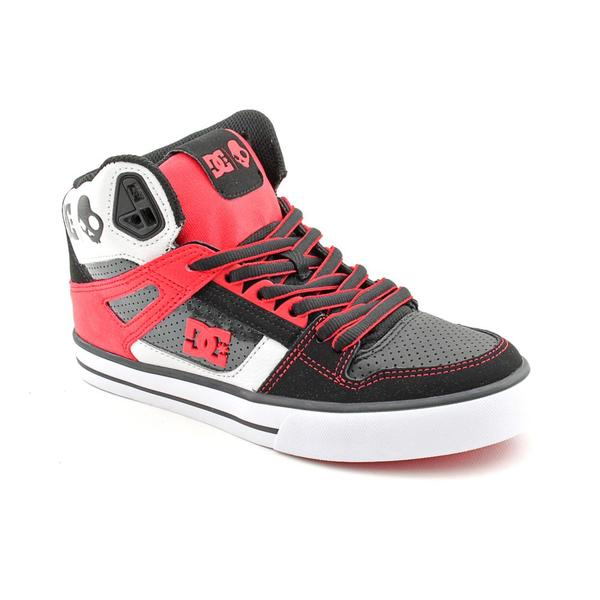 DC Boy's 'Spartan HI WC SK' Leather Athletic Shoe