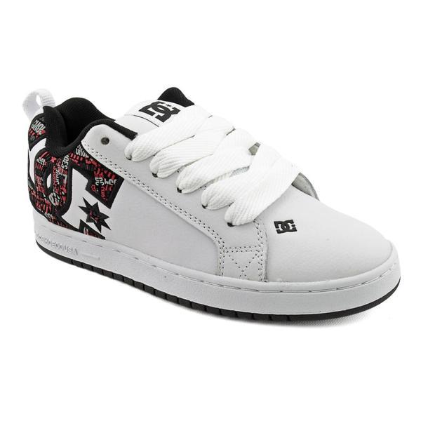 DC Boy's 'Court Graffik SE' Leather Athletic Shoe
