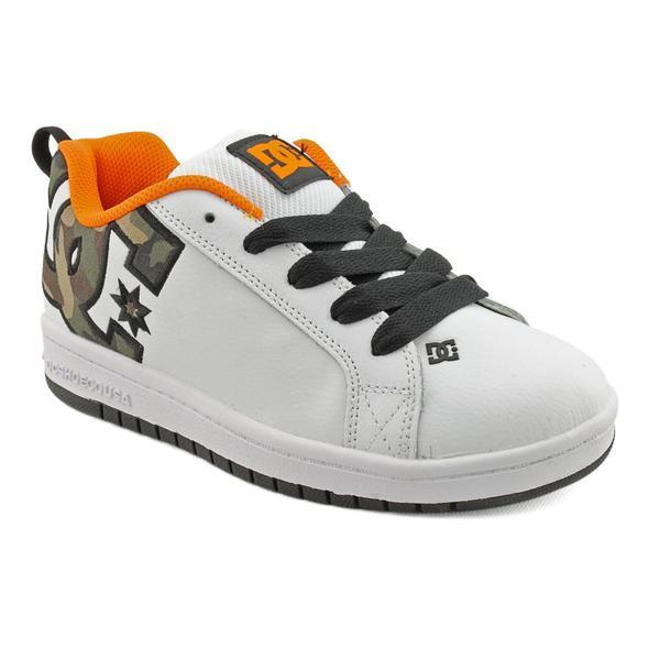 DC Boy's 'Court Graffik SE' Leather Athletic Shoe (Size 4)