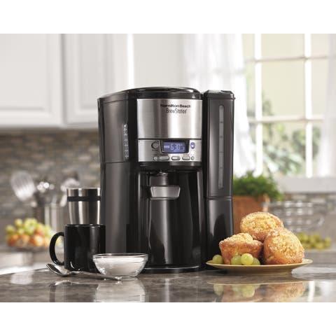 Hamilton Beach BrewStation 12-Cup Programable Dispensing Coffee Maker - Black
