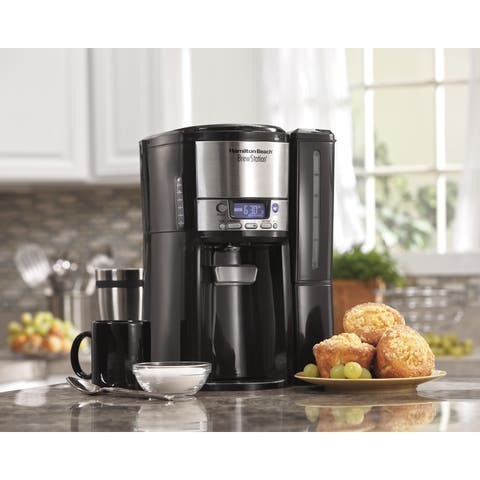 Hamilton Beach BrewStation 12-Cup Programable Dispensing Coffee Maker - Black