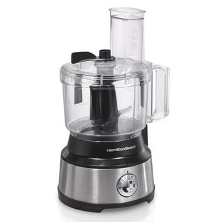 Hamilton Beach Black/Silvertone 10-cup Bowl Scraper Food Processor
