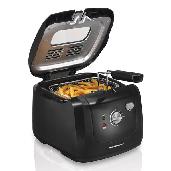 Hamilton Beach Black 6 Cup Cool-touch Deep Fryer