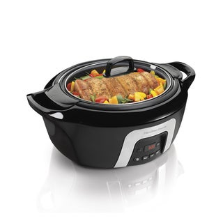 Hamilton Beach Black 6 Quart Programmable Cool-Surround Slow Cooker