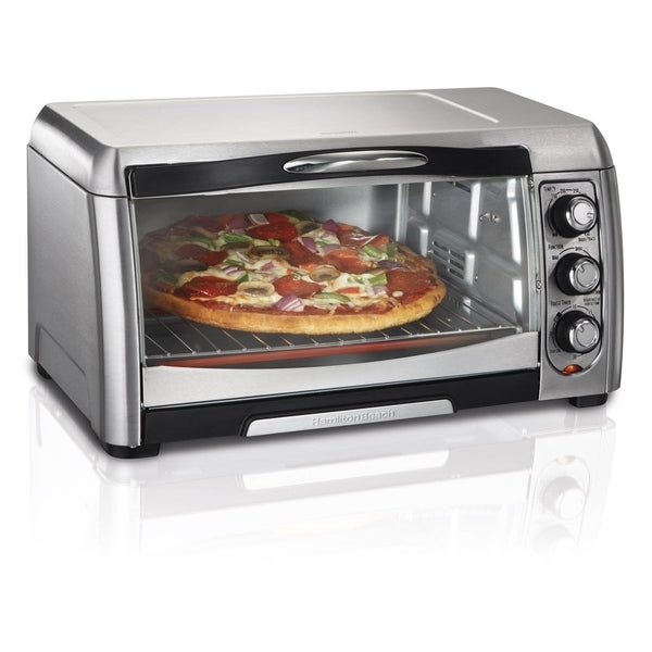 Hamilton Beach Stainless Steel 6-slice Convection Toaster Oven w/ Broiler. Opens flyout.