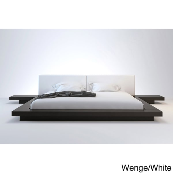 Worth Full-size Platform Bed with 2 Matching Nightstands