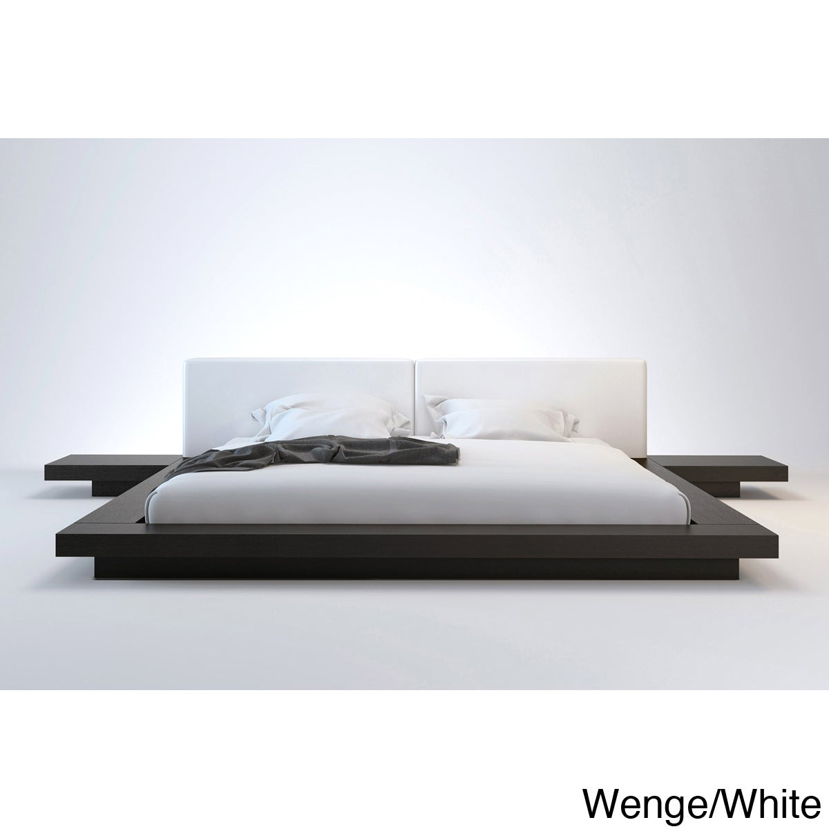 Picture of: Worth California King Platform Bed With 2 Matching Nightstands Overstock 7508742