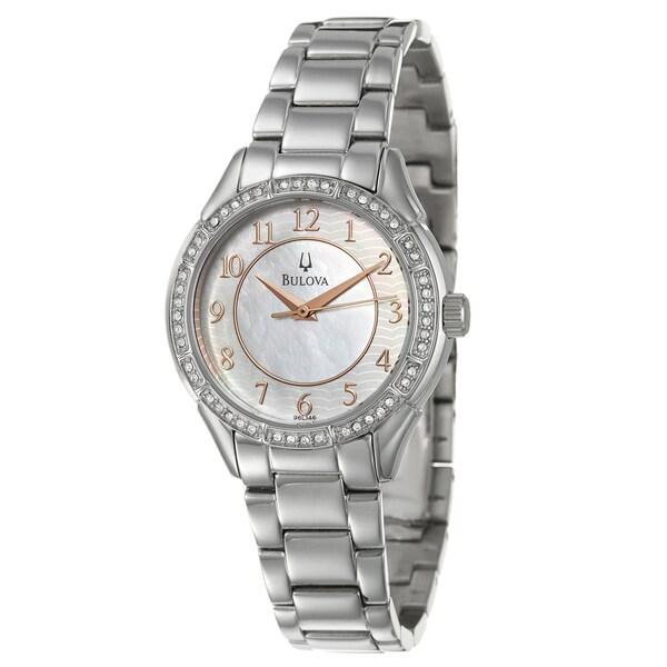 Bulova Women's 96L146 Stainless Steel Crystal Watch