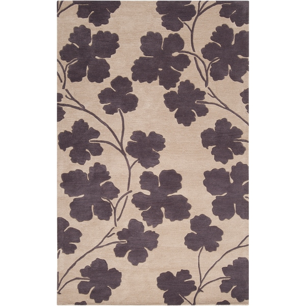 Hand-tufted Cuero Floral New Zealand Wool Rug (5' x 8')