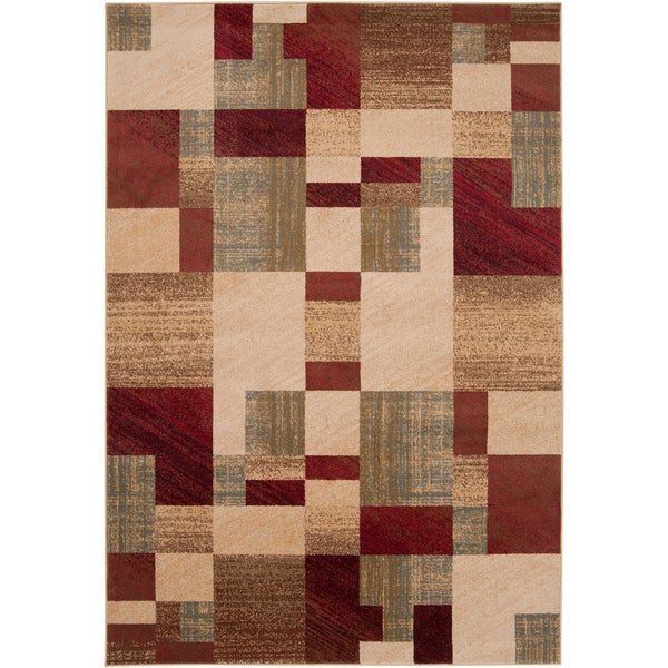 Woven Grapeland Geometric Patches Plush Rug