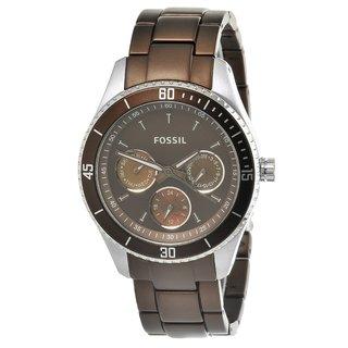 Fossil Women's Browm Steel 'Stella' Watch