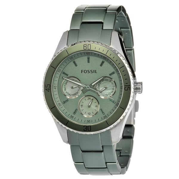 e45dbff417a2 Shop Fossil Women s ES3039  Stella  Stainless Steel   Aluminum Watch - Free  Shipping Today - Overstock - 7508805