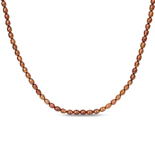 Miadora Brown Cultured Freshwater Pearl Endless Necklace