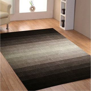 Hand-tufted Rays Grey Wool Rug (4' x 6')