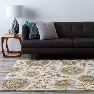 Hand-tufted Tuleta Ivory Wool Area Rug (10' x 14')