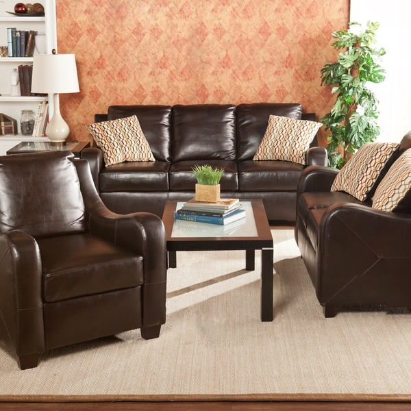 Harper Blvd Claymore Chocolate 3-piece Sofa Set