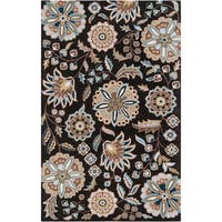 Hand-tufted Ukiah Black Wool Area Rug (10' x 14')