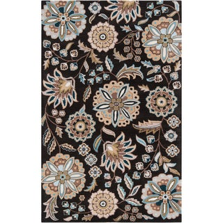 Hand-tufted Ukiah Black Wool Area Rug