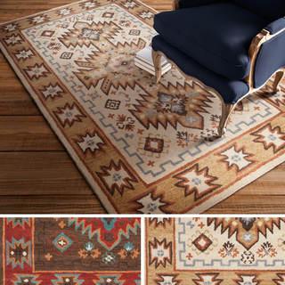 Hand-tufted Southwestern Aztec Waelder Wool Rug (8'x11')