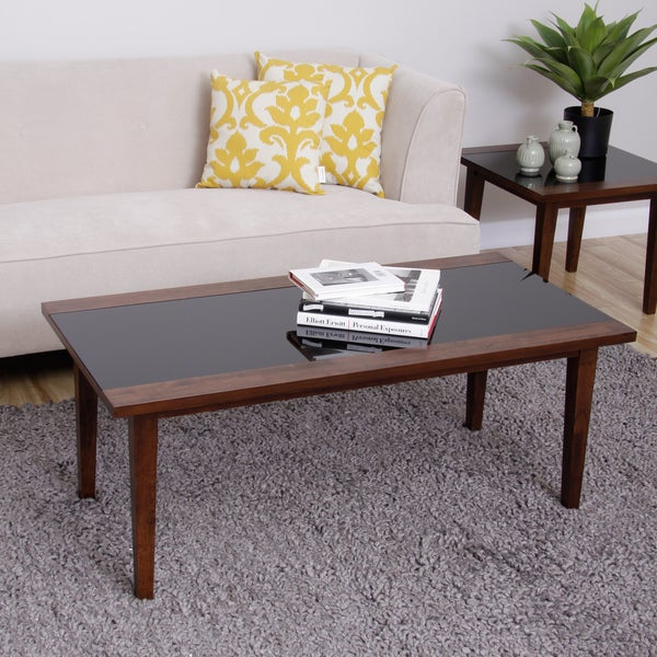 Draper Wood/ Glass Coffee Table