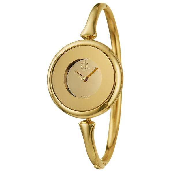 Calvin Klein Women's Goldplated Steel 'Sing' Watch