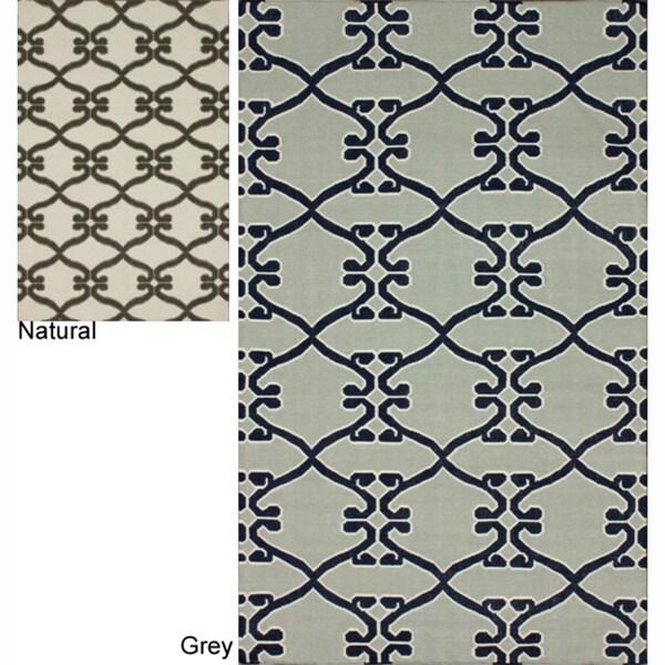 nuLOOM Handmade Flatweave Vintage Trellis Wool Rug
