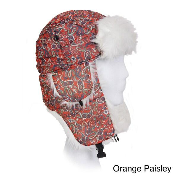Solegear Women's Paisley Print Winter Trapper Hat