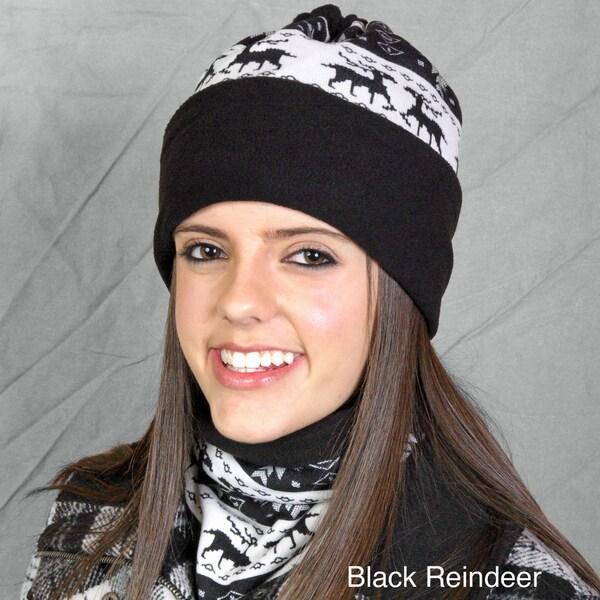 Solegear Dual-purpose Reindeer Pattern Thermo Neck Warmer Hat