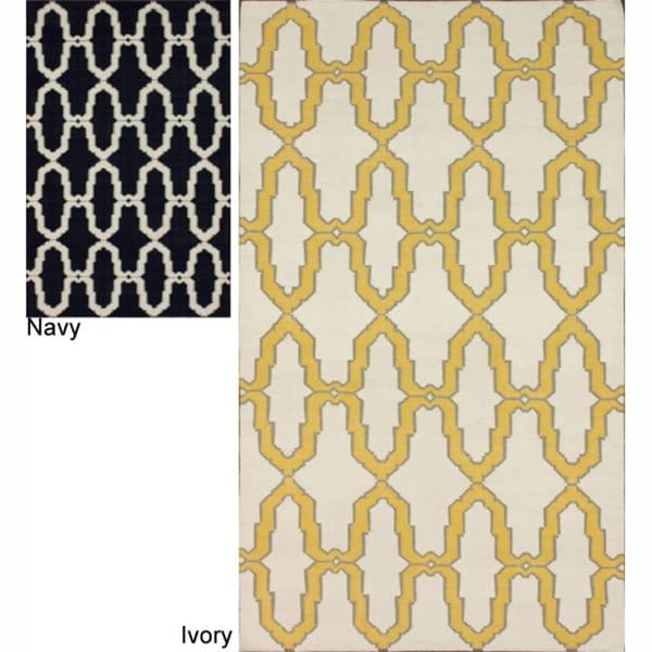 nuLOOM Handmade Flatweave Trellis Wool Rug