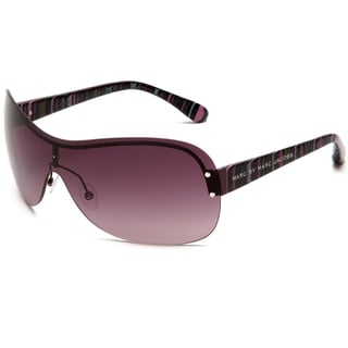 Marc by Marc Jacobs Women's Violet Striated Fuchsia Shield Sunglasses