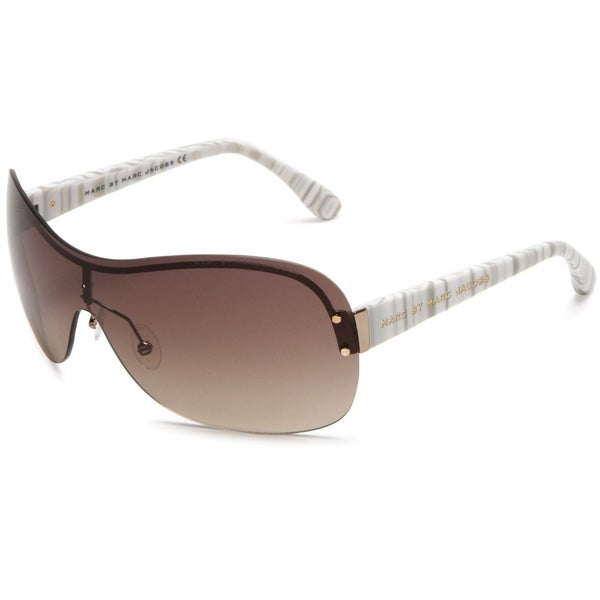 Marc by Marc Jacobs Women's Gold Ivory Shield Sunglasses