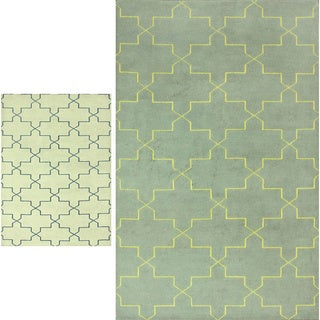 nuLOOM Hand-knotted Overdyed Marrakesh Trellis Wool Rug