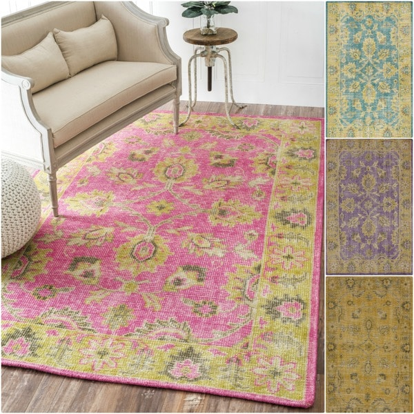 nuLOOM Hand-knotted Overdyed Wool Rug - 8' x 10'