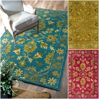nuLOOM Handmade Overdyed Floral Wool Rug