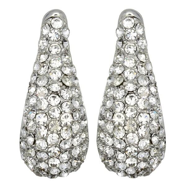 Kate Marie Silvertone Rhinestone and Acrylic Fashion Earrings