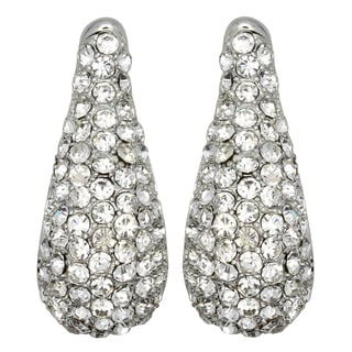 Kate Marie Silvertone Rhinestone and Acrylic Fashion Earrings