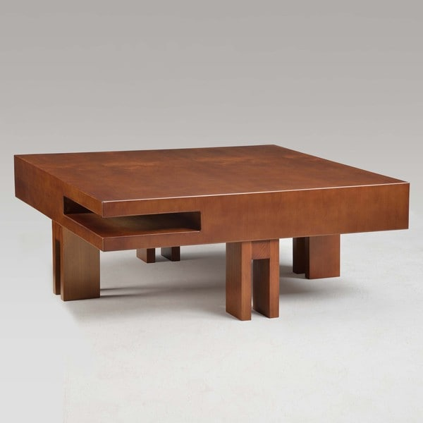 Block Walnut Coffee Table