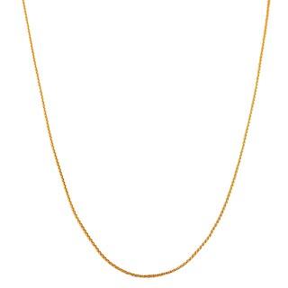 Fremada 18k Rosegold Round Wheat Chain (18-inch)